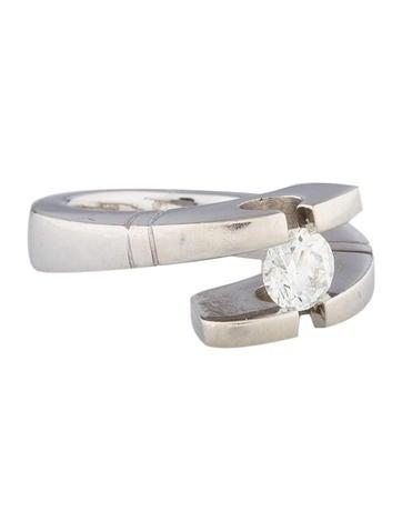 Tension-Set Diamond Ring