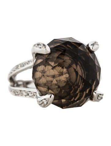 Salavetti Smokey Quartz and Diamond Ring