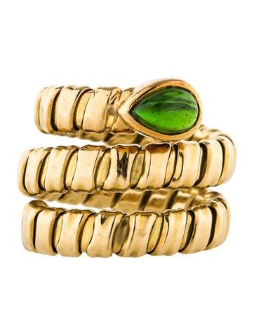Spiral Coil Tourmaline Ring