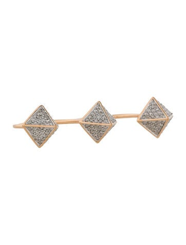 1.0ctw Two Finger Pyramid Stud Ring