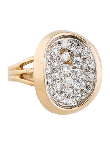 Diamond Oval Disc Ring