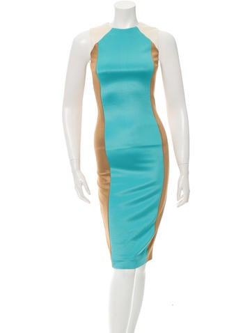 Fausto Puglisi Colorblock Midi Dress None
