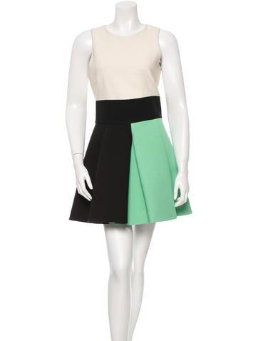 Fausto Puglisi Colorblock Pleated Dress None