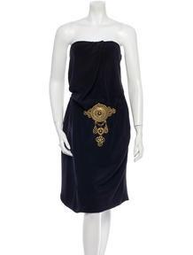 Wes Gordon Silk Dress