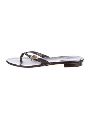 Gucci Embellished Thong Sandals