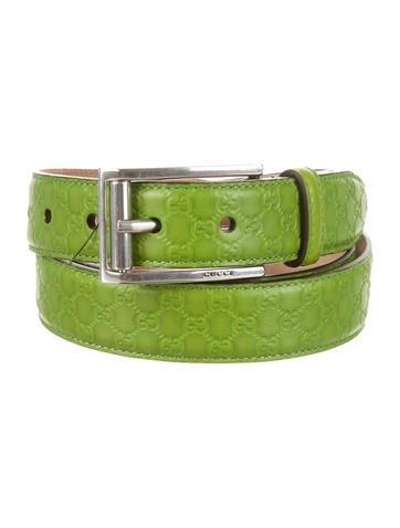 Gucci GG Monogram Leather Belt