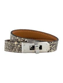 Hermès Lizard Rivale Double Tour Bracelet