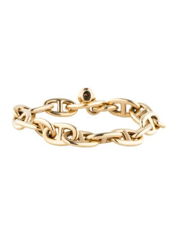 Herm s cha ne d 39 ancre link bracelet jewelry her37323 the realreal - Bracelet couple ancre ...