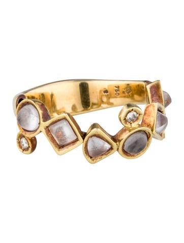 H.Stern Quartz and Diamond Ring