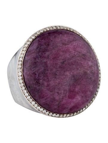 Ippolita Scultura grote diamant Accent Ring