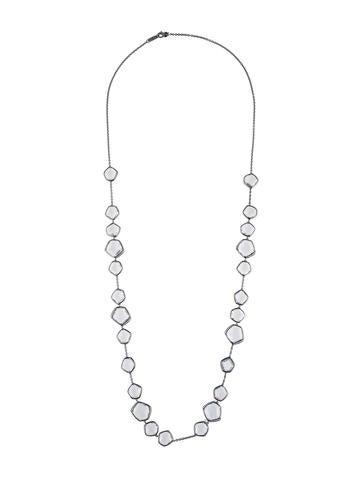 Ippolita Quartz and Diamond Station Necklace