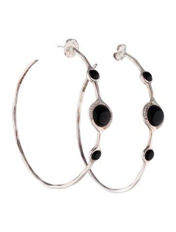 Ippolita Scultura Onyx Hoop Earrings