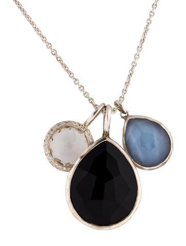 Ippolita Multigem and Diamond Pendant Necklace