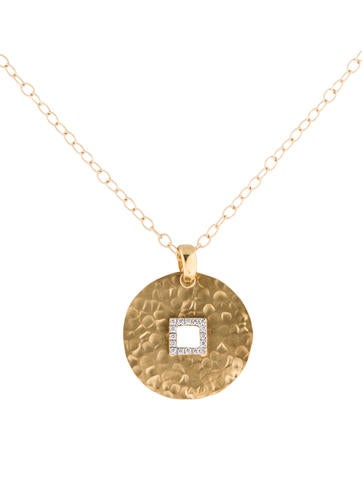I. Reiss Hammered 14K and Diamond Pendant Necklace