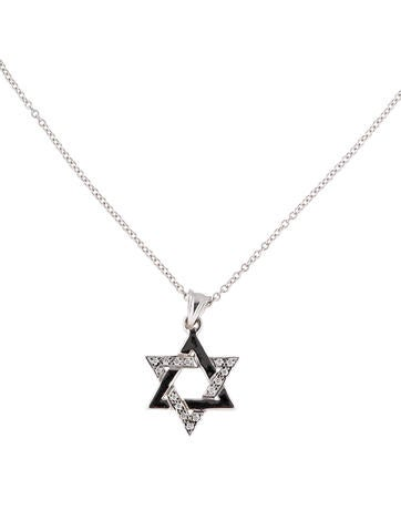 I. Reiss Star of David Diamond Necklace