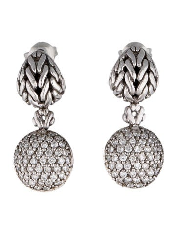 John Hardy Diamond Dangle Earrings