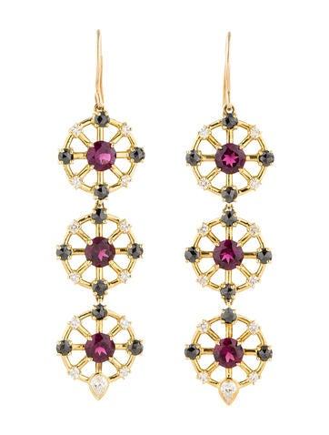 Jemma Wynne Rhodolite Dangle Earrings