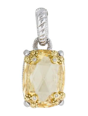 Judith Ripka Canary Crystal and Diamond Pendant