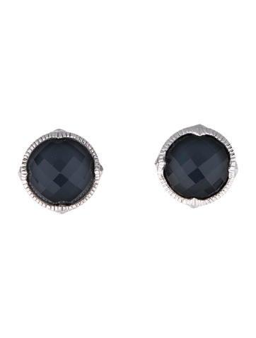 Judith Ripka Zilver Crystal Stud Earrings