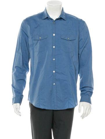 John Varvatos Military Button-Up Shirt