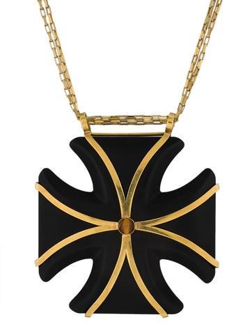 Kara Ross Maltese Cross Pendant