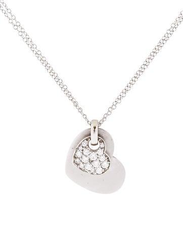 Kwiat Platinum and Diamond Heart Pendant Necklace