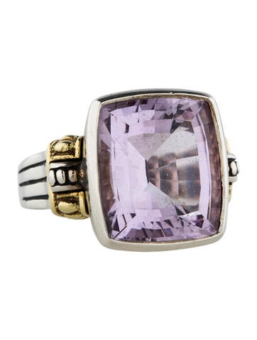 Lagos Amethist Zilveren en Gouden Ring