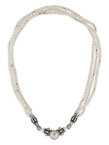 Lagos Mabe Pearl Multistrand Necklace