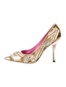 Louis Vuitton Metallic Pumps