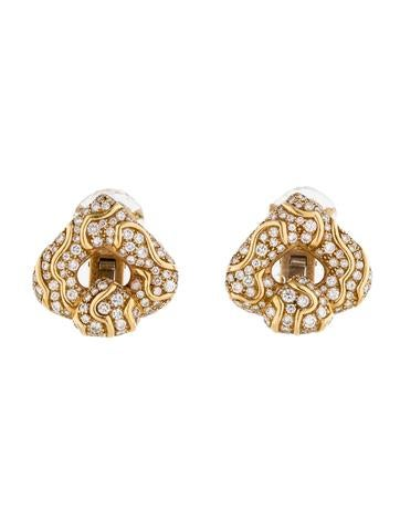 Marina B Pardy Heart Diamond Clip On Earrings