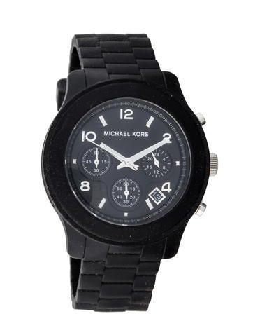Michael Kors Rubber Runway Chronograph Watch