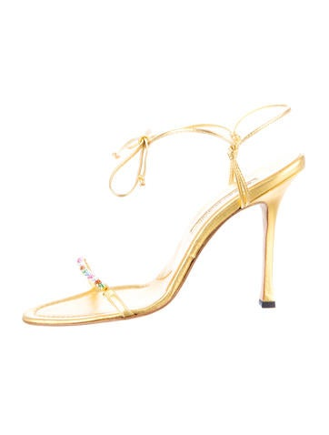 Manolo Blahnik Metallic Sandals