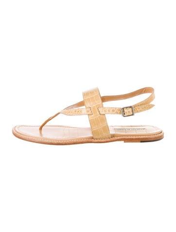 Manolo Blahnik Crocodile Sandals