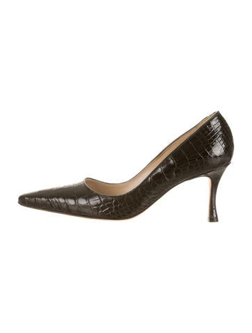 Manolo Blahnik Alligator Pumps