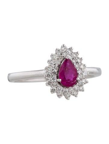 Nigaam Diamond and Ruby Ring w/ Tags