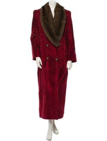 Oscar de la Renta Perzische Lam Coat