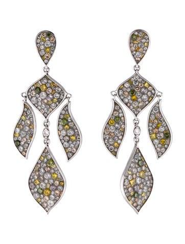 Plevé 18K Multicolor Diamond Earrings