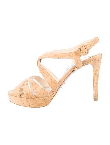 Prada Cork Sandals