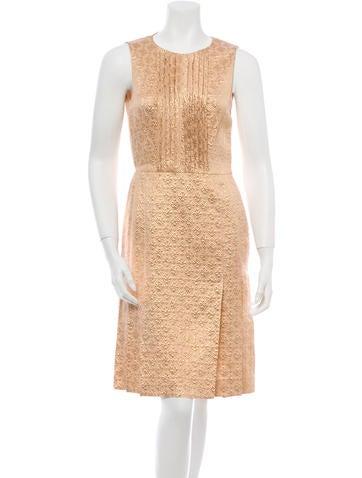 Prada Metallic Brocade Dress