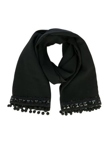 Prada Beaded Wool Scarf