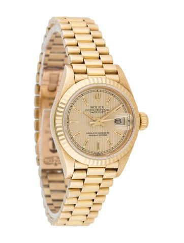 Rolex 18K Gold Datejust Watch