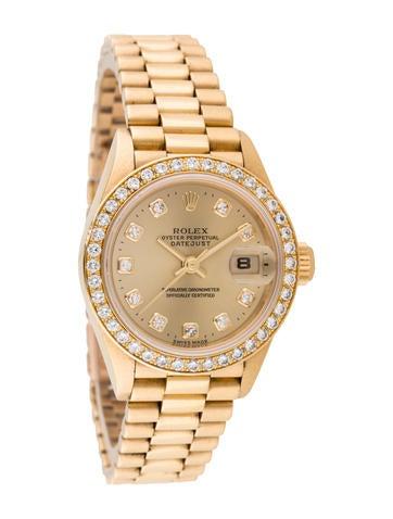 Rolex 18K Oyster Perpetual Datejust Diamond Watch