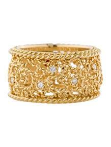 Roberto Coin Diamond Filigree Ring