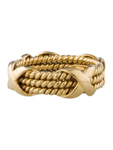 Tiffany & Co. Schlumberger Rope Three-Row X Ring