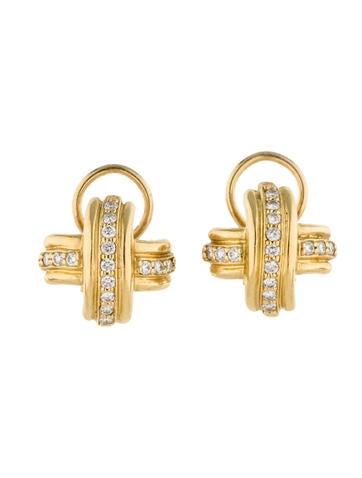 Tiffany & Co. X Diamond Clip-On Earrings