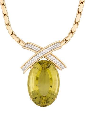 Tiffany & Co. 176.60ct Citirine & Diamond Necklace