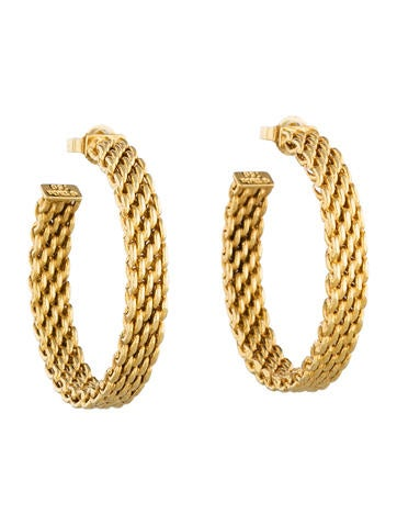 Tiffany & Co. 18K Somerset Hoop Earrings