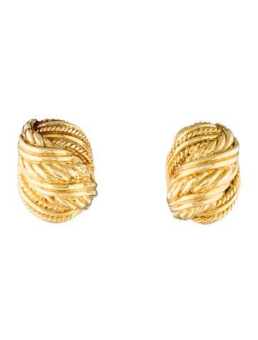 Tiffany 0026 Co. 18K Woven Rope Earrings
