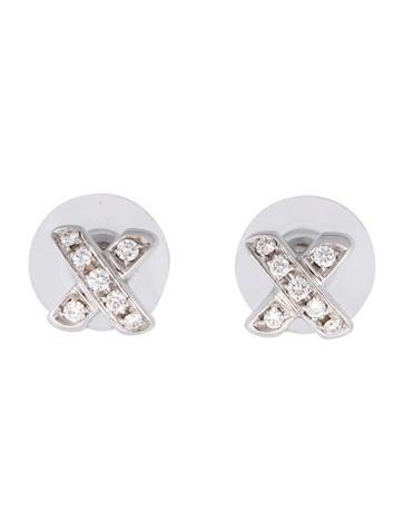 Tiffany 0026 Co. 18K Diamond X Earrings