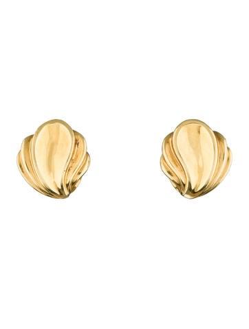 Tiffany & Co. 18K Shell Earrings